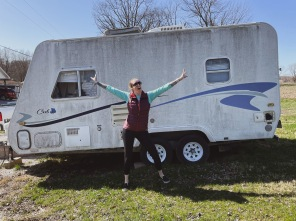 My 31st bday - the day we moved Vivian the camper to her spot to be renovated!